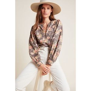 NWT XS Anthropologie Michaela Peasant Blouse